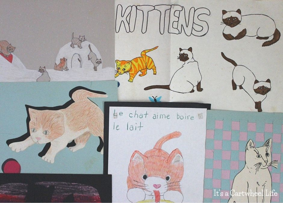 childhood art projects with cats