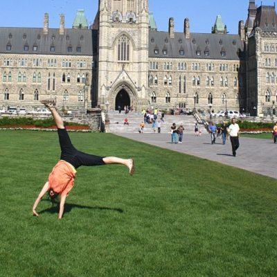 cartwheel at parliament building